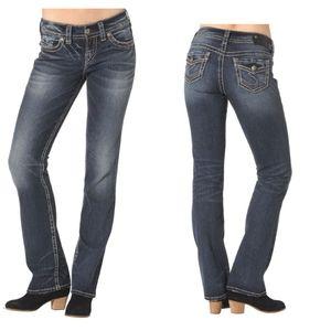 Silver Suki Mid Slim Boot Jeans 31×31